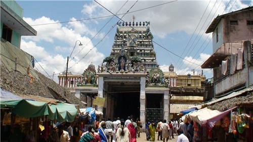 The Entrance to the Murugan Temple of Port Blair