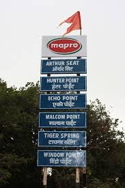 arthur's seat signboard