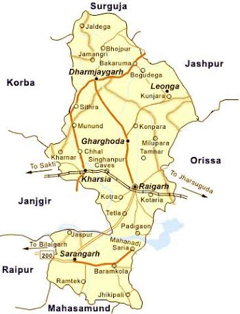 Geography of Raigarh