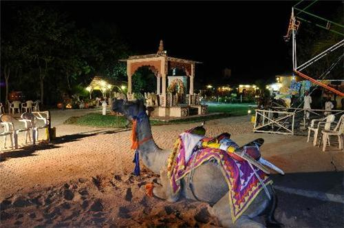 Entertainment activities at Chouki Dhani Resort in Rajkot