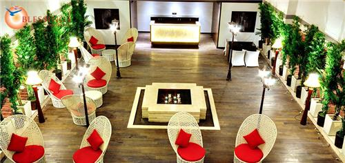 Dining and Restaurant facility at The Fern Residency in Rajkot