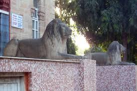 Lions Statue at Jubilee Garden in Rajkot