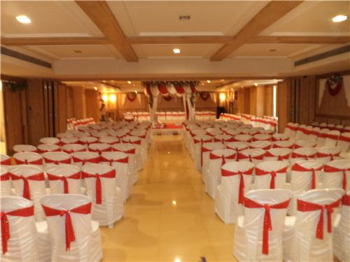 Banquet Hall at Chouki Dhani Resort in Rajkot