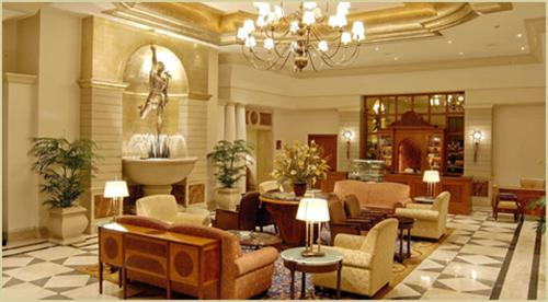 Grand Lobby of Hotel Imperial Palace in Rajkot