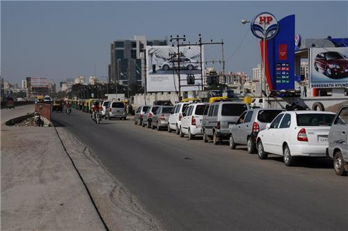 Busy highway roads in Rajkot