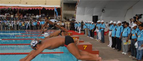 Swimming competitions in Rajkot