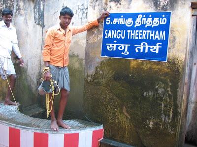 Sangu Theertham in Rameswaram