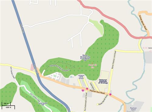 Location Map of Biodiversity Park in Ranchi