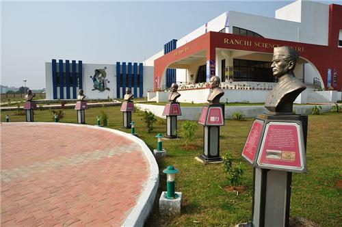 Statues of Legends at Ranchi Science Center in Ranchi