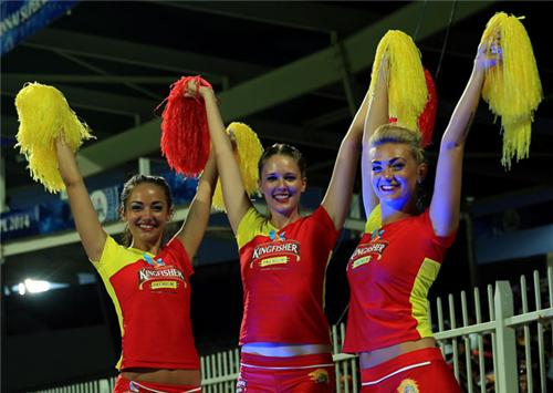 Chennai Super Kings Cheer girls dancing