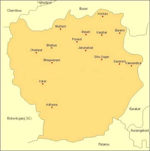 Geography of Sasaram