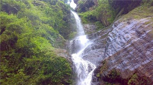 Alluring View of Cascading Chadwick's Water Fall in Shimla