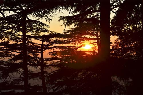 Mesmerizing Sun Set View From Shaily Peak in Shimla