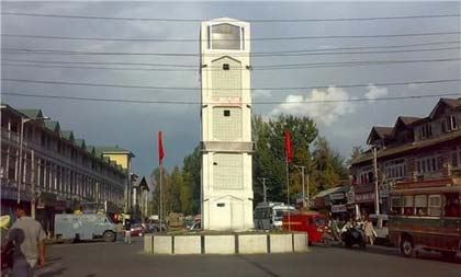 Lal Chowk in Srinagar