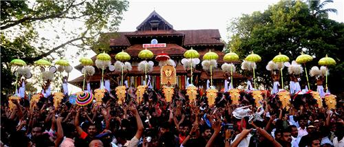 Pooram celebrations in Thiruvambadi