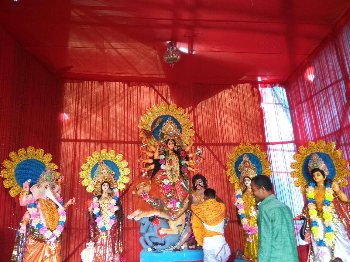 Katchujan tea Estate Durga Puja Banglaguri Line