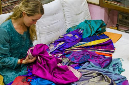 Saree Shopping in Varanasi