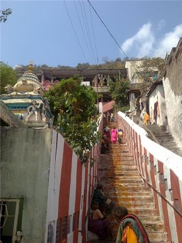 Sri Subramanya Swamy Temple in Vijayawada Stairs