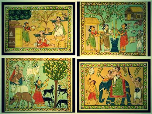 Cherial Scroll Paintings