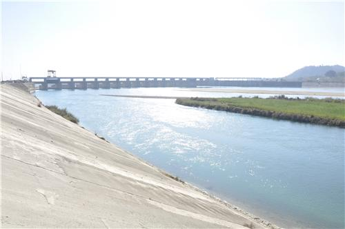 Hathni Kund Barrage in Yamunanagar