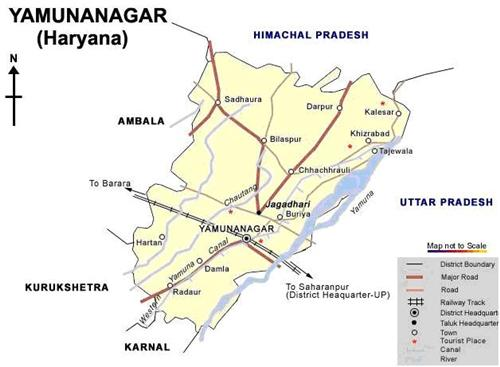 Geography of Yamunanagar
