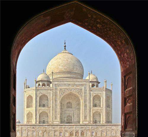 Beautiful view of Taj Mahal