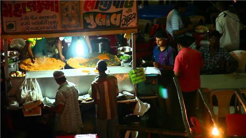 Street Food in Manek Chowk in Ahmedabad
