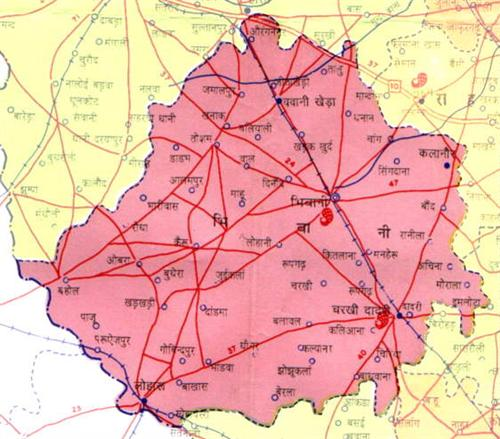 Geography of Bhiwani