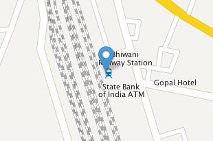 Location of Bhiwani Railway station