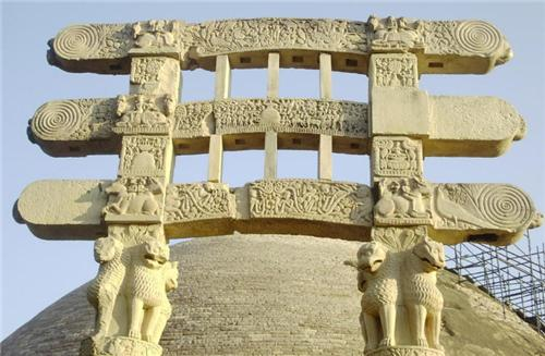 Gateways of Sanchi Stupa