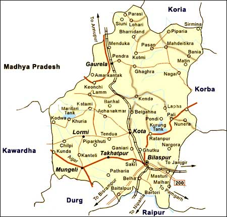 Geography of Bilaspur