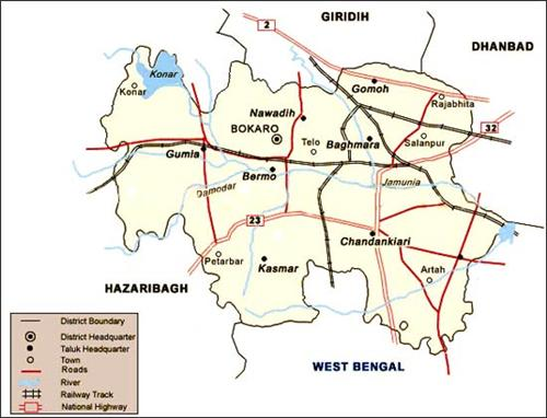 Geography of Bokaro
