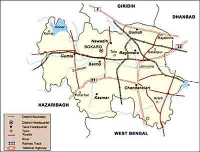 Geography of Bokaro