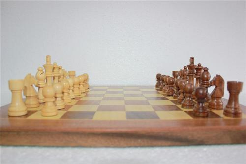 A chess board from a chess tournament in Chennai
