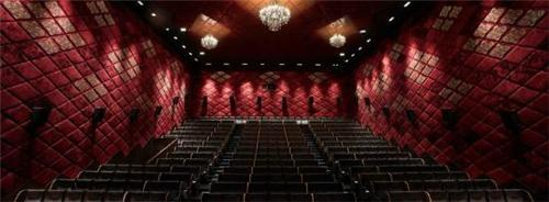 The impressive auditorium with quality seating arrangements of Escape Cinemas in Chennai.