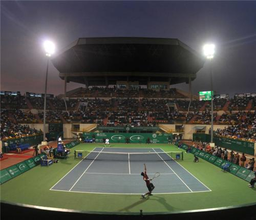 players playing in a tennis stadium in Chennai