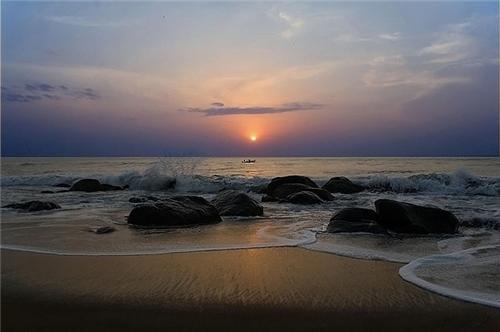 A famous beach near Coimbatore