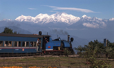 Kanchenjungha And The Toy Train At Darjeeling