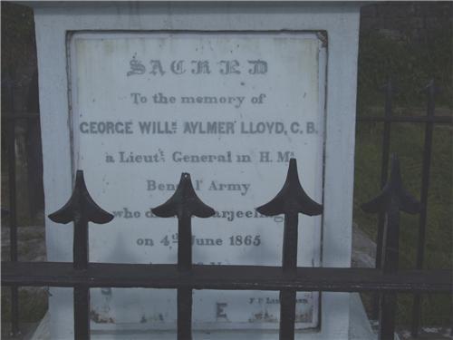 Grave of  Lt General George W Aylmer Lloyd