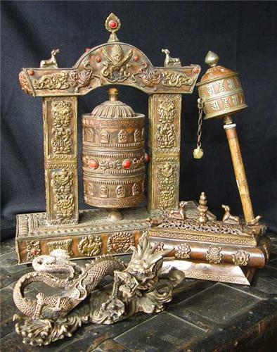 Metal Work by Tibetan Artisans
