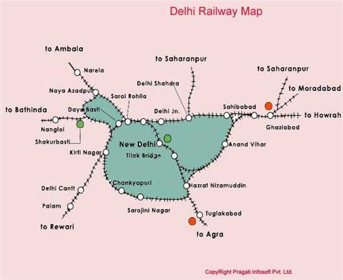 Delhi Rail Map