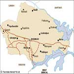 Dhanbad Raill Map