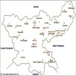 Dhanbad Tourist Map