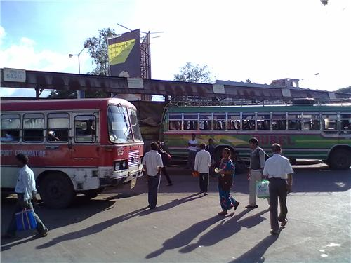 Bus terminus in Durgapur