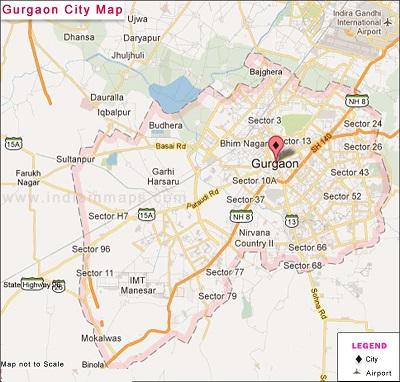 Gurugram Map