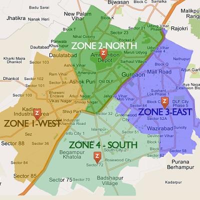 MCG Area Map