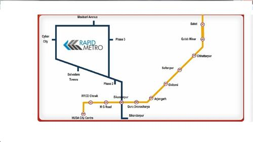Gurugram metro map