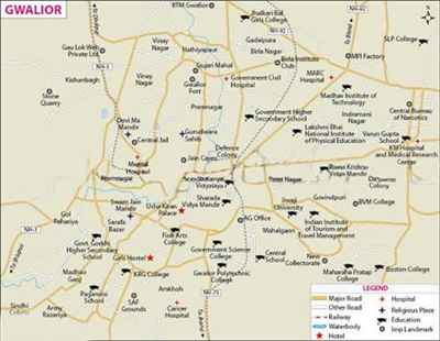 Localities in Gwalior