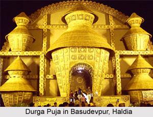 Durga Puja Pandal in Haldia