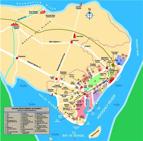 Haldia Map
